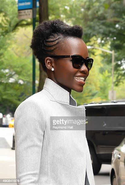 Actress Lupita Nyong'o is seen outside the 'View' on October 1 2015 in New York City
