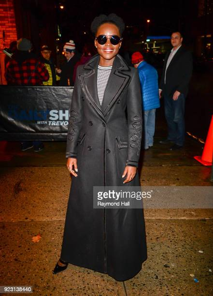Actress Lupita Nyong'o is seen seen arriving at 'The Daily Show With Trevor Noah' on February 22 2018 in New York City