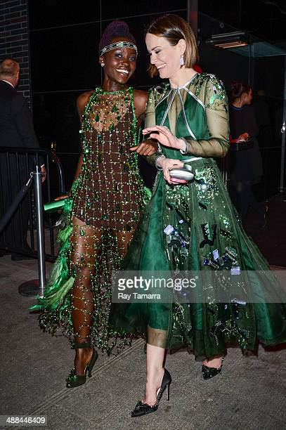 """Actress Lupita Nyong'o leaves the """"Charles James: Beyond Fashion"""" Costume Institute Gala after party at the Boom Boom Room on May 5, 2014 in New York..."""