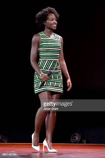 Actress Lupita Nyong'o of QUEEN OF KATWE took part today in 'Worlds Galaxies and Universes Live Action at The Walt Disney Studios' presentation at...