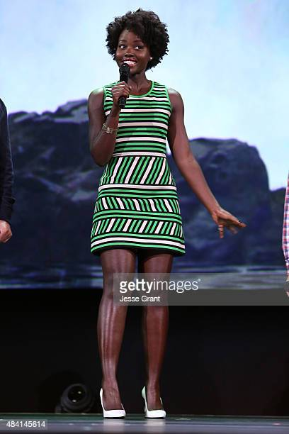 Actress Lupita Nyong'o of THE JUNGLE BOOK took part today in 'Worlds Galaxies and Universes Live Action at The Walt Disney Studios' presentation at...