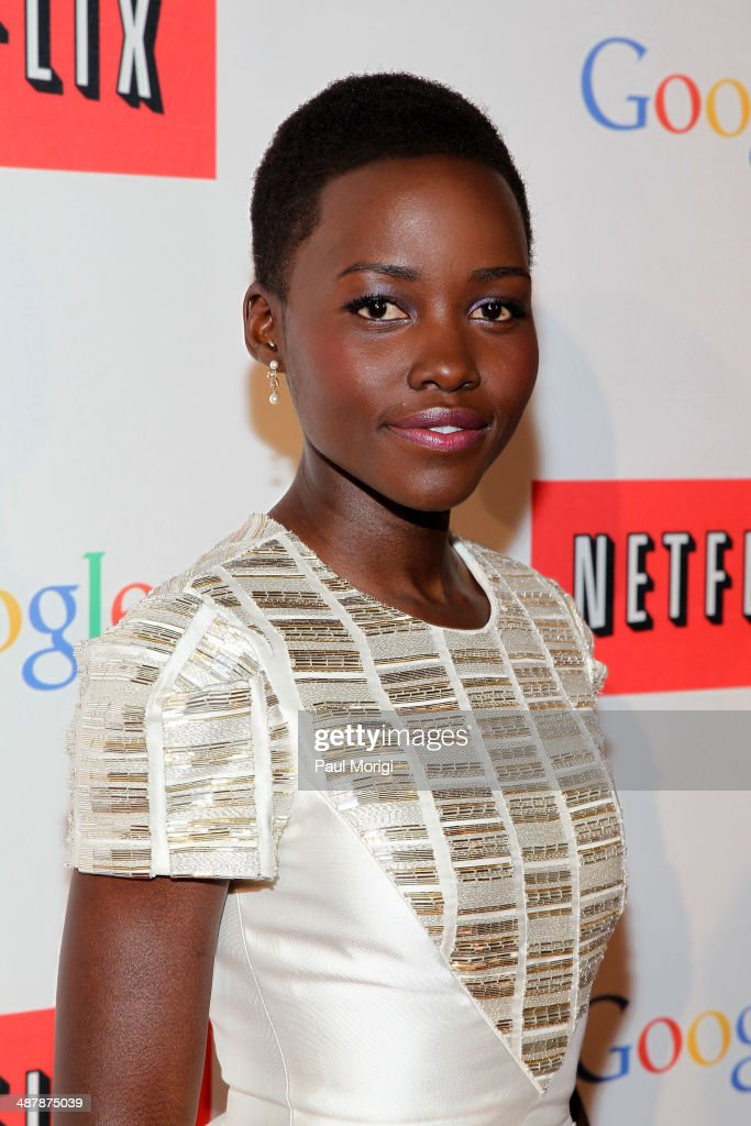 Actress Lupita Nyong'o walks the red carpet at Google/Netflix White House Correspondent's Weekend Party at United States Institute of Peace on Friday, May 2, 2014 in Washington, DC.