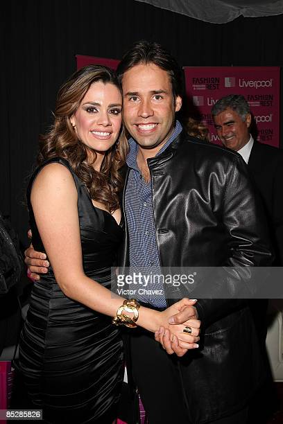 Actress Lus Elena Gonzalez and her husband Bernardo Martinez attend the Liverpool Fashion Fest Spring/Summer 2009 at Liverpool Santa Fe on March 6...
