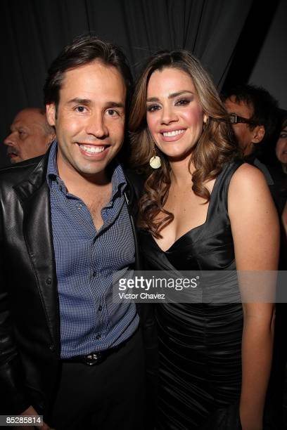Actress Lus Elena Gonzalez and her husband Bernardo Martinez attends the Liverpool Fashion Fest Spring/Summer 2009 at Liverpool Santa Fe on March 6...