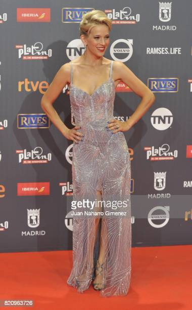 Actress Lusiana Lopilato attends the 'Platino Awards 2017' photocall at La Caja Magica on July 22 2017 in Madrid Spain