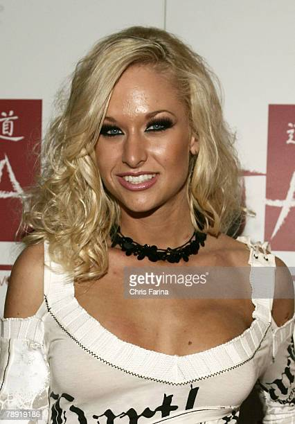 Actress Lux Kassidy arrives at a naughty night to remember at TAO Nightclub at The Venetian Hotel and Casino Resort on January 12 2008 in Las Vegas...
