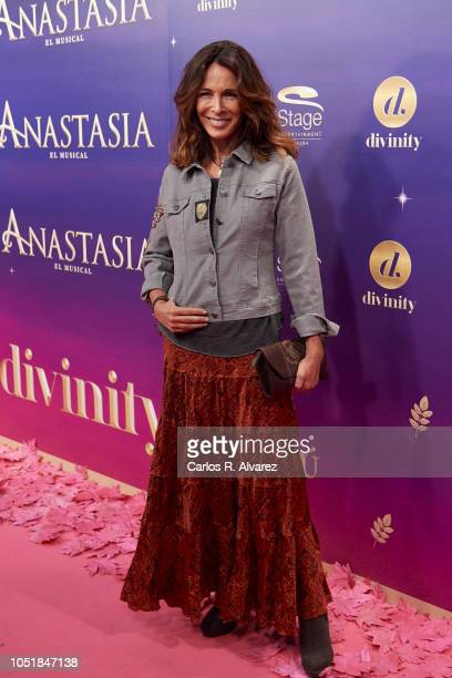 Actress Lydia Bosch attends 'Anastasia The Musical' premiere at the Coliseum Teather on October 10 2018 in Madrid Spain