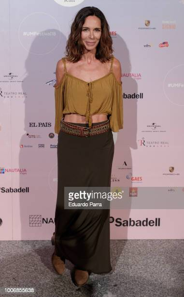 Actress Lydia Bosch attends the Pablo Lopez concert photocall at Royal Theatre on July 28 2018 in Madrid Spain