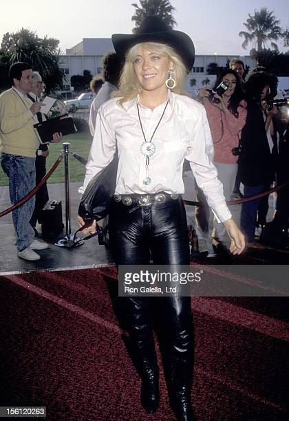 Actress Lydia Cornell attends the 34th Annual SHARE Boomtown Party on May 16 1987 at Santa Monica Civic Auditorium in Santa Monica California
