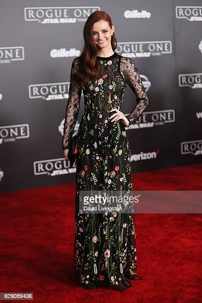 Actress Lydia Hearst arrives at the premiere of Walt Disney Pictures and Lucasfilm's Rogue One A Star Wars Story at the Pantages Theatre on December...