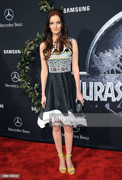 Actress Lydia Hearst arrives for the Premiere Of Universal Pictures' Jurassic World held in the courtyard of Hollywood Highland on June 9 2015 in...