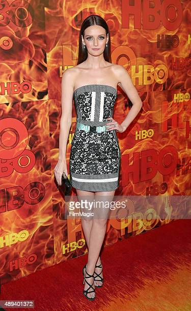 Actress Lydia Hearst attends HBO's Official 2015 Emmy After Party at The Plaza at the Pacific Design Center on September 20 2015 in Los Angeles...