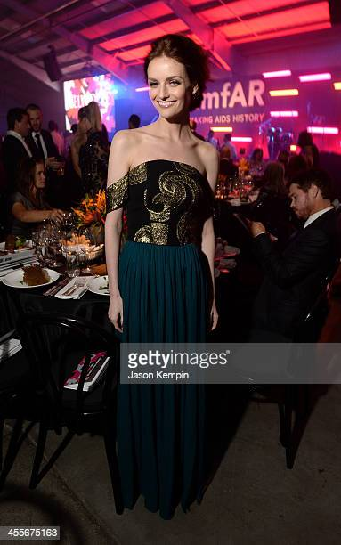 Actress Lydia Hearst attends the 2013 amfAR Inspiration Gala Los Angeles at Milk Studios on December 12 2013 in Los Angeles California