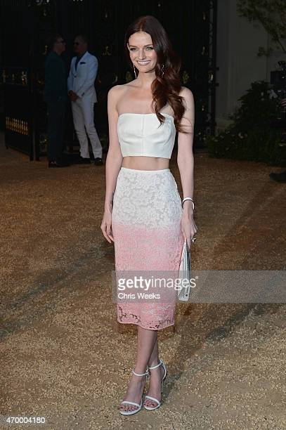 Actress Lydia Hearst attends the Burberry 'London in Los Angeles' event at Griffith Observatory on April 16 2015 in Los Angeles California