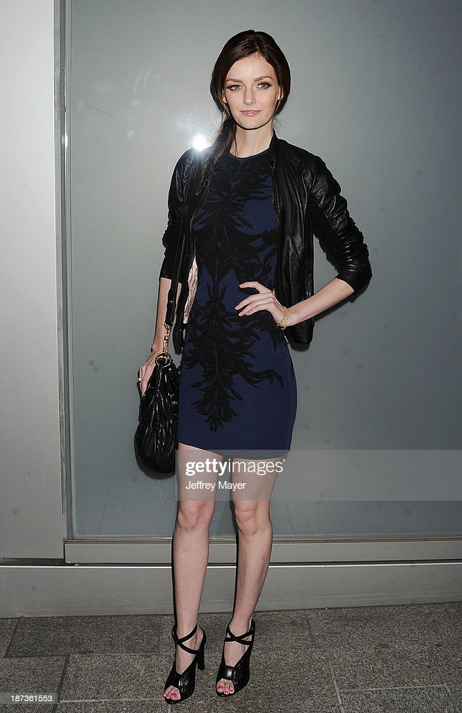 Actress Lydia Hearst attends the Flaunt Magazine Issue Party with Selena Gomez And Amanda De Cadenet held at Hakkasan Beverly Hills on November 7, 2013 in Beverly Hills, California.