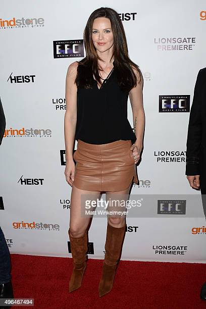 Actress Lydia Hull arrives at the screening of Lionsgate's 'Heist' at Sundance Cinemas on November 9 2015 in West Hollywood California