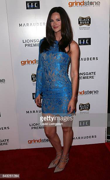 Actress Lydia Hull attends the Lionsgate premiere of 'Marauders' at TCL Chinese 6 Theatres on June 26 2016 in Hollywood California
