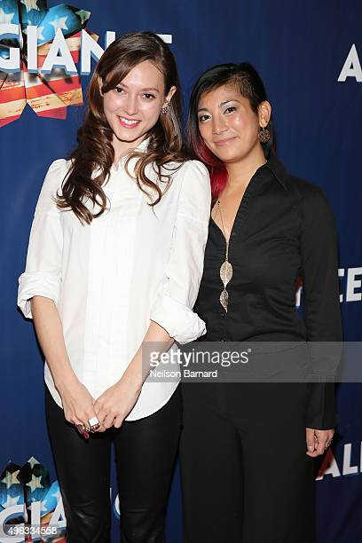 Actress Lydia Wilson attends the 'Allegiance' Broadway opening night red carpet at The Longacre Theatre on November 8 2015 in New York City