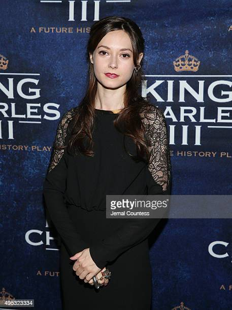 Actress Lydia Wilson attends the King Charles III Broadway opening night after party at the Bryant Park Grill on November 1 2015 in New York City