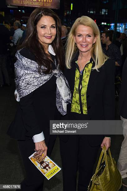 Actress Lynda Carter and Blaine Trump attend the 'Side Show' broadway preview at St James Theater on October 28 2014 in New York City