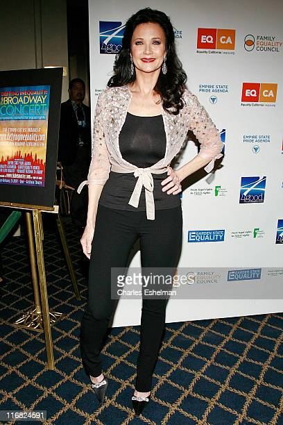 Actress Lynda Carter attends Defying Inequality The Broadway Concert at the Gershwin Theatre on February 23 2009 in New York City