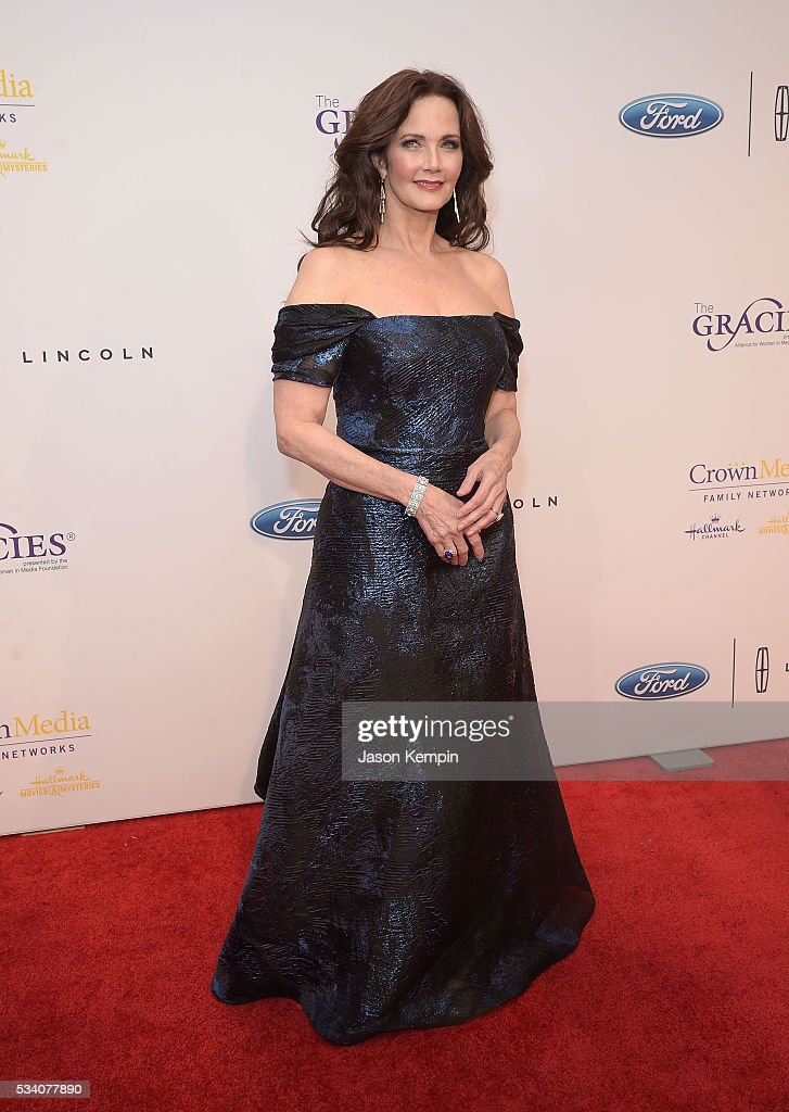 Actress Lynda Carter attends the 41st Annual Gracie Awards Gala at the Beverly Wilshire Four Seasons Hotel on May 24, 2016 in Beverly Hills, California.