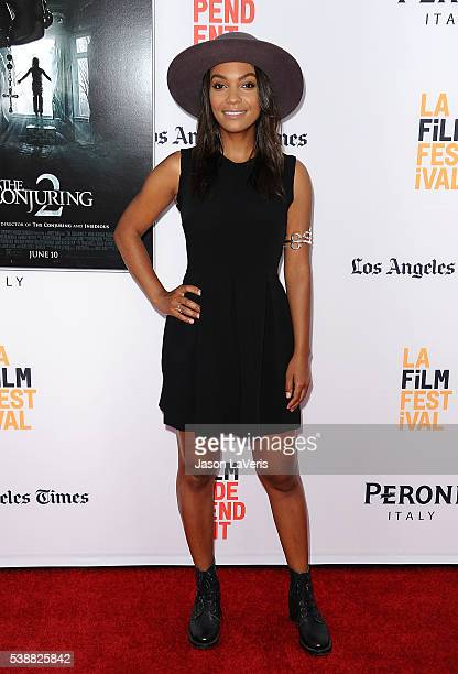 Actress Lyndie Greenwood attends the premiere of The Conjuring 2 at the 2016 Los Angeles Film Festival at TCL Chinese Theatre IMAX on June 7 2016 in...