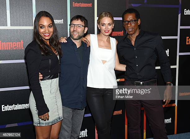 """Actress Lyndie Greenwood, producer Mark Goffman, actress Katia Winter and actor Orlando Jones from the show """"Sleepy Hollow"""" attend Entertainment..."""