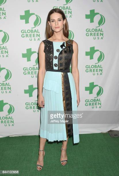 Actress Lyndsy Fonseca arrives at the 14th Annual Global Green PreOscar Gala at TAO Hollywood on February 22 2017 in Los Angeles California