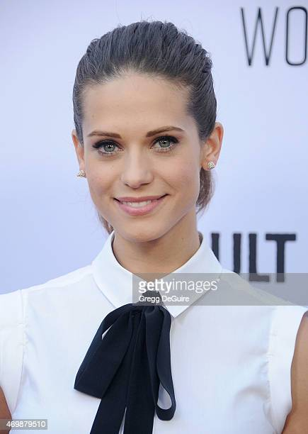 Actress Lyndsy Fonseca arrives at the Los Angeles premiere of Adult Beginners at ArcLight Hollywood on April 15 2015 in Hollywood California