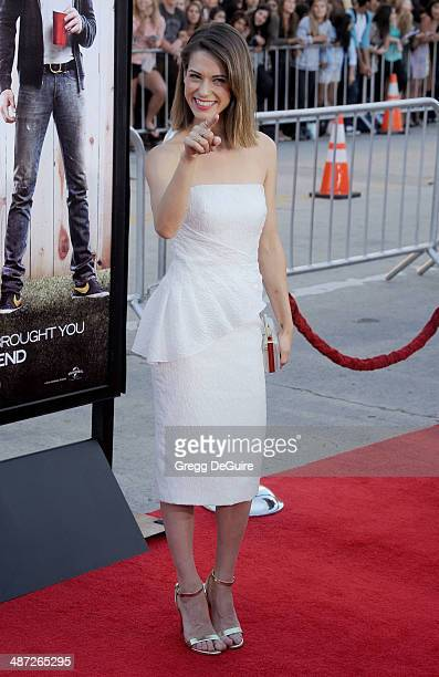 Actress Lyndsy Fonseca arrives at the Los Angeles premiere of Neighbors at Regency Village Theatre on April 28 2014 in Westwood California