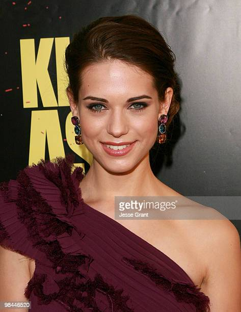 Actress Lyndsy Fonseca arrives to the Los Angeles premiere of 'KICKASS' at the Cinerama Dome on April 13 2010 in Hollywood California