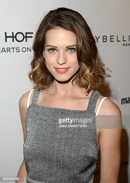 Actress Lyndsy Fonseca attends Marie Claire Celebrates May Cover Stars on April 8 2014 in West Hollywood California