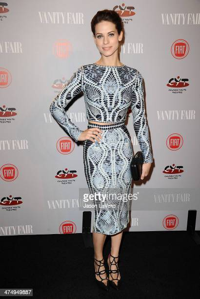 Actress Lyndsy Fonseca attends the Vanity Fair Campaign Young Hollywood party at No Vacancy on February 25 2014 in Los Angeles California
