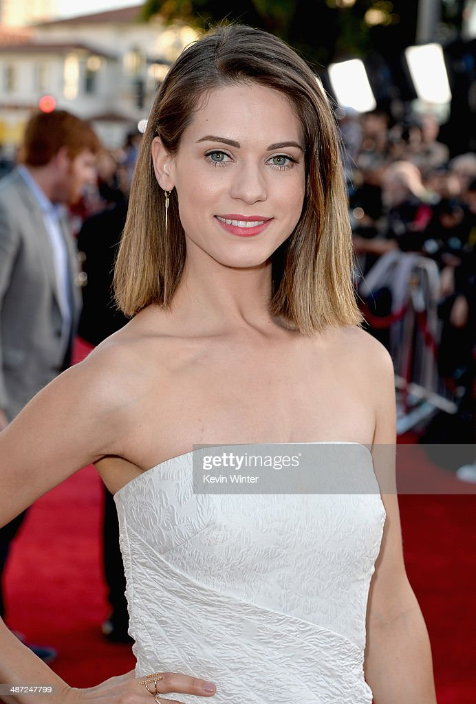 Actress Lyndsy Fonseca attends Universal Pictures' 'Neighbors' premiere at Regency Village Theatre on April 28, 2014 in Westwood, California.