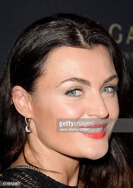 Actress Lyne Renée attends Decades of Glamour presented by BVLGARI on February 25 2014 in West Hollywood California