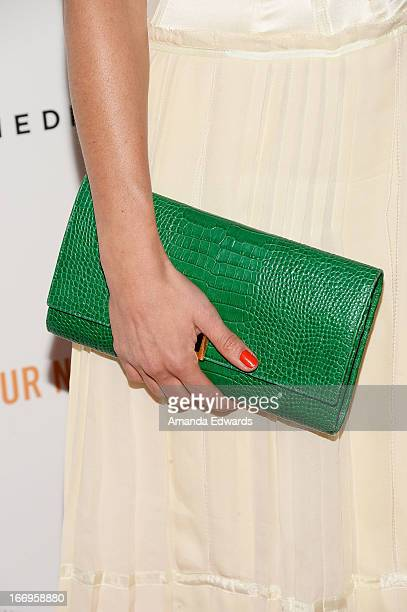 """Actress Lyne Renee arrives at the Los Angeles premiere of """"Arthur Newman"""" at ArcLight Hollywood on April 18, 2013 in Hollywood, California."""