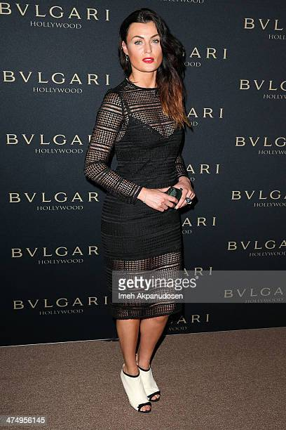 Actress Lyne Renee attends the BVLGARI 'Decades of Glamour' Oscar Party presented by at Soho House on February 25 2014 in West Hollywood California