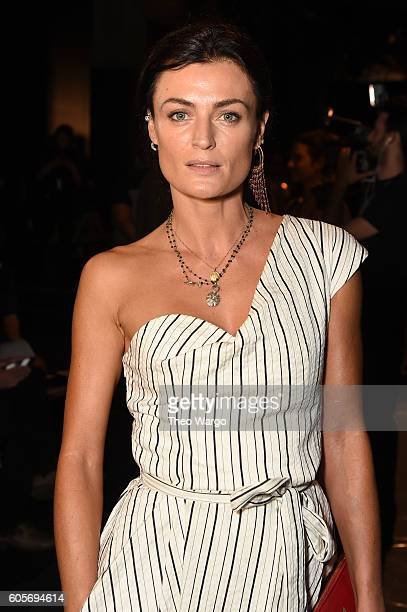 Actress Lyne Renee of PBS 'Mercy Street' attends the Bibhu Mohapatra fashion show during New York Fashion Week The Shows at The Dock Skylight at...