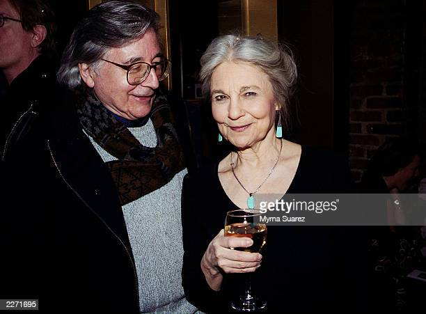 Actress Lynn Cohen and her husband at a party for the premeire of her new movie The Jimmy Show at Kanvas bar and lounge in New York City Photo by...