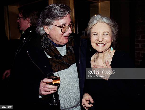 Actress Lynn Cohen and her husband celebrate at a party for the premeire of Frank Whaley's The Jimmy Show at Kanvas bar and lounge in New York City...
