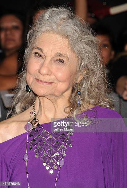 Actress Lynn Cohen arrive at the Los Angeles premiere of 'The Hunger Games Catching Fire' at Nokia Theatre LA Live on November 18 2013 in Los Angeles...
