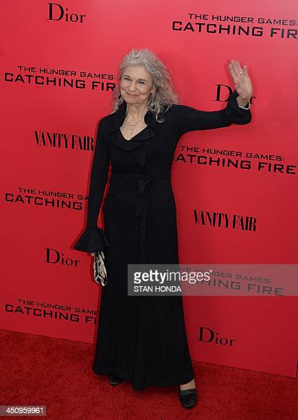 Actress Lynn Cohen arrives at a special screening of The Hunger Games Catching Fire November 20 2013 in New York AFP PHOTO/Stan HONDA