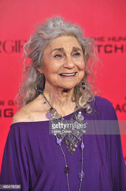Actress Lynn Cohen arrives at the Los Angeles prremiere of The Hunger Games Catching Fire at Nokia Theatre LA Live on November 18 2013 in Los Angeles...