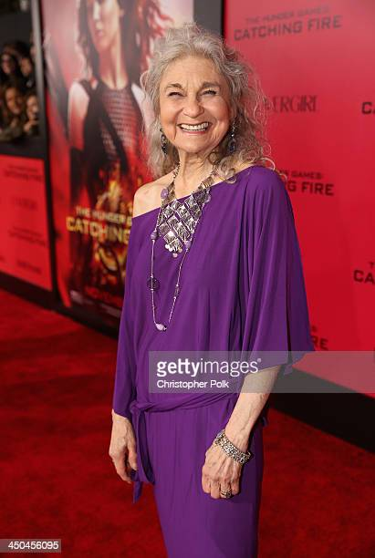 Actress Lynn Cohen attends premiere of Lionsgate's The Hunger Games Catching Fire Red Carpet at Nokia Theatre LA Live on November 18 2013 in Los...