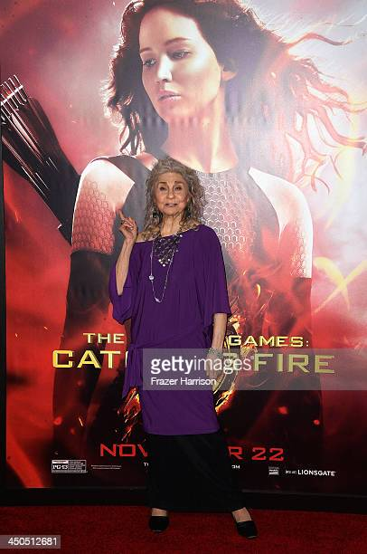 Actress Lynn Cohen attends the premiere of Lionsgate's The Hunger Games Cathching Fire at Nokia Theatre LA Live on November 18 2013 in Los Angeles...