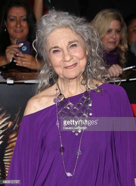 Actress Lynn Cohen attends the premiere of Lionsgate's The Hunger Games Catching Fire at Nokia Theatre LA Live on November 18 2013 in Los Angeles...