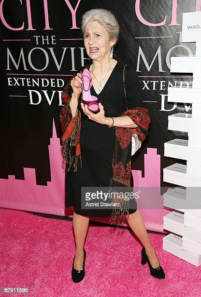 Actress Lynn Cohen attends the Sex and the City The Movie DVD launch at the New York Public Library on September 18 2008 in New York City