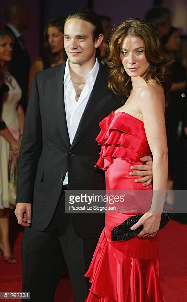 Actress Lynn Collins and boyfriend Charlie Cox attend the The Merchant Of Venice Premiere at the 61st Venice Film Festival on September 4 2004 in...