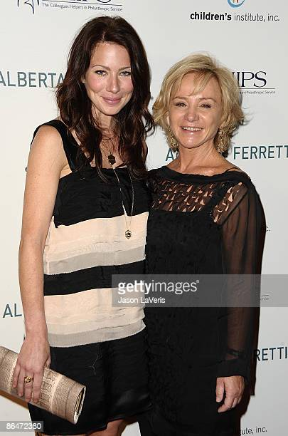 Actress Lynn Collins and designer Alberta Ferretti attend the CHIPS spring luncheon and fall fashion show at Montage Beverly Hills on May 6 2009 in...